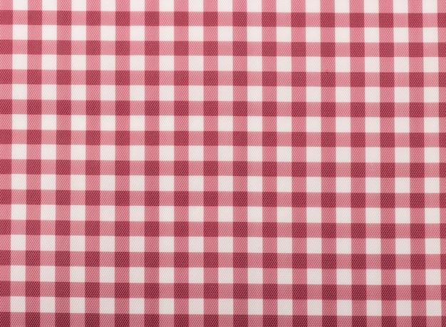 Bedrukte stof. plaid materiële stof textuur vierkant rood.