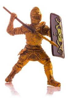 Beeldje een middeleeuwse geïsoleerde ridder