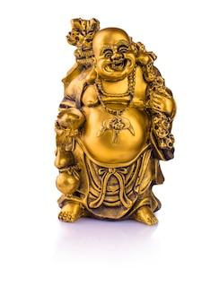 Beeldje vrolijke hotei. chinese god van rijkdom.