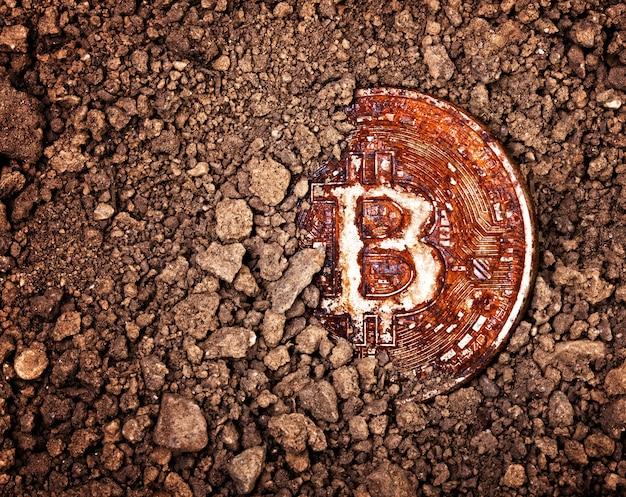 Begraven roestige bitcoin