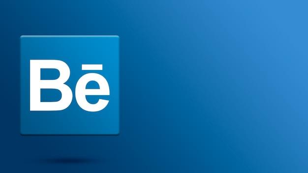 Behance-logo op 3d-platform