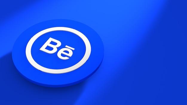 Behance-logo op het premium 3d-platform
