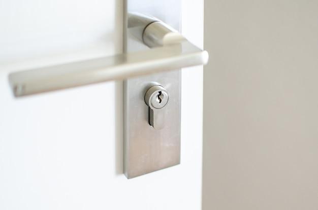 Behandel de stalen knop op de deur