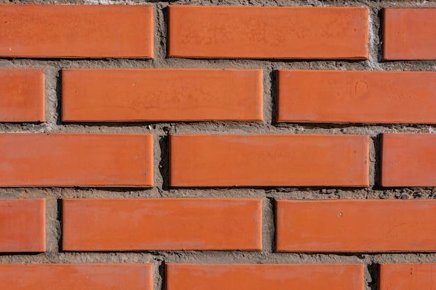 Beige-bruin grunge bakstenen muur textuur of oud oppervlaktepatroon voor achtergrond en achtergrond.