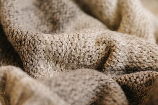 Beige herfst breiwol textuur achtergrond.