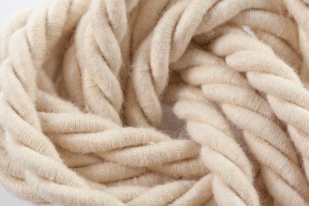 Beige katoenen touw