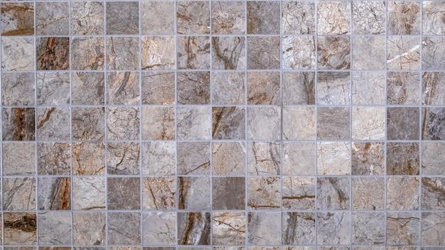 Beige mozaïektegels. tegels textuur