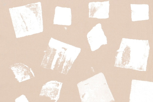 Beige vierkante patroon achtergrond handgemaakte prints