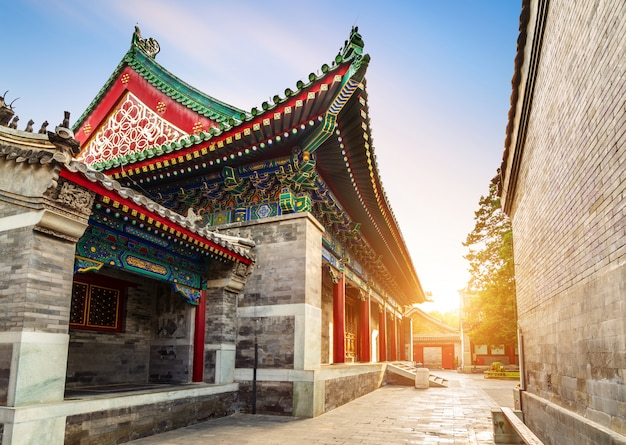 Beijing binnenplaats in de qing-dynastie