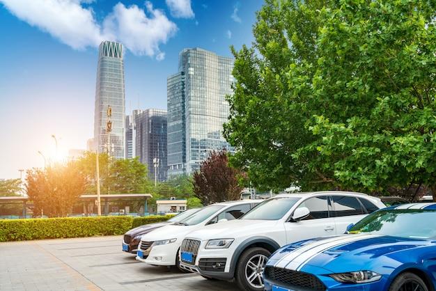 Beijing cbd parkeerplaats