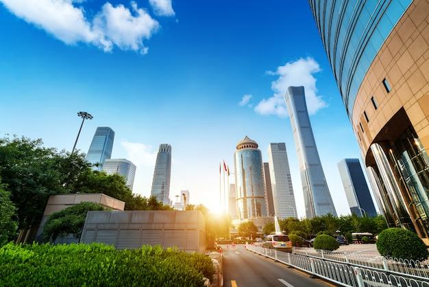 Beijing straat en auto
