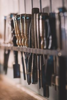 Beitel voor hout, gitaarbouwers om te werken