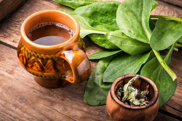 Beker van gezonde thee