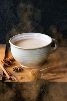 Beker van masala chai