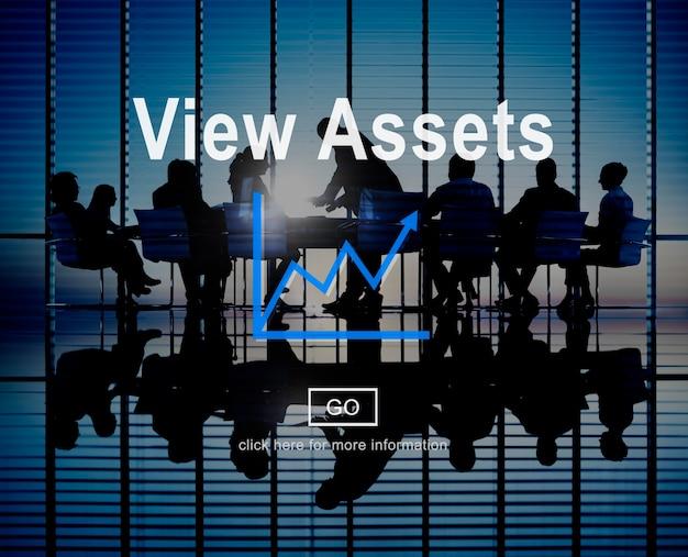 Bekijk activa boekhoudkundige eigenschap waarde concept