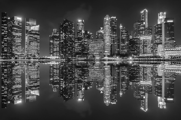 Bekijk centrale bedrijfsgebouwen en oriëntatiepunten van singapore