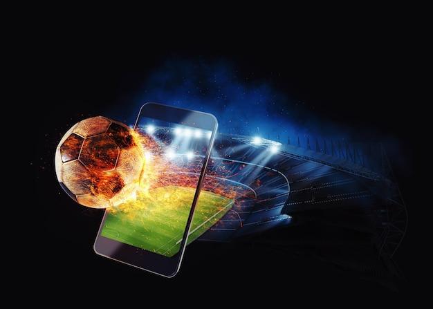 Bekijk een live sportevenement op je mobiele apparaat en wed op voetbalwedstrijden