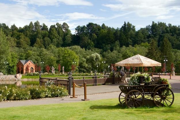 Bekijk in belmontas park in vilnius, litouwen