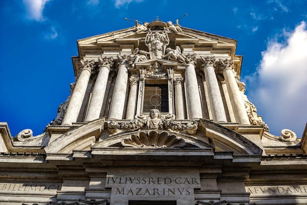 Bekijk in de kerk saints vincent en anastasius in rome, italië