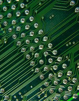 Bekijk op computer moederbord onderdelen. gebruik voor achtergrond of textuur