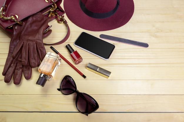 Bekijk op vrouwen tas spullen