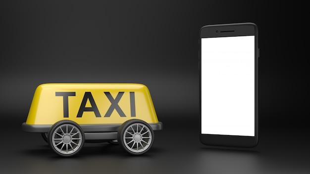 Bel een taxidienstconcept