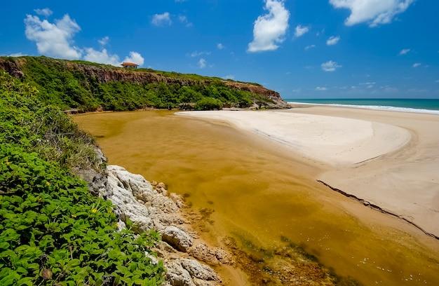Bela strand conde bij joao pessoa paraiba noordoostkust van brazilië