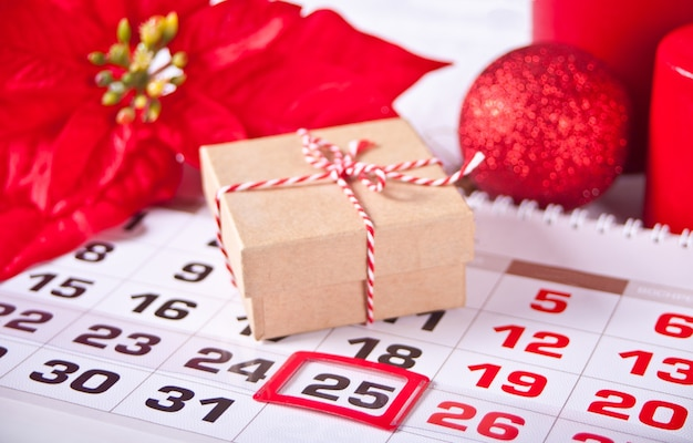 Belangrijke datum van kalender 25 december