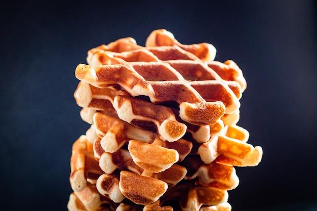 Belgische wafels zoete dessert verse ontbijtmaaltijd