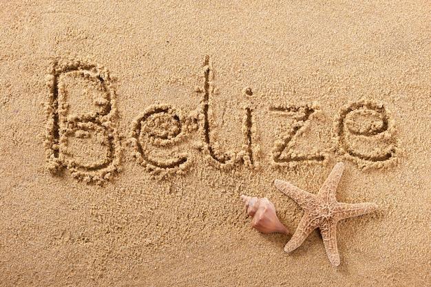 Belize zomer strand schrijven bericht