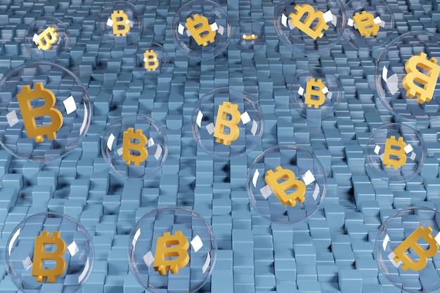 Bellen met het bitcoinsymbool erin.