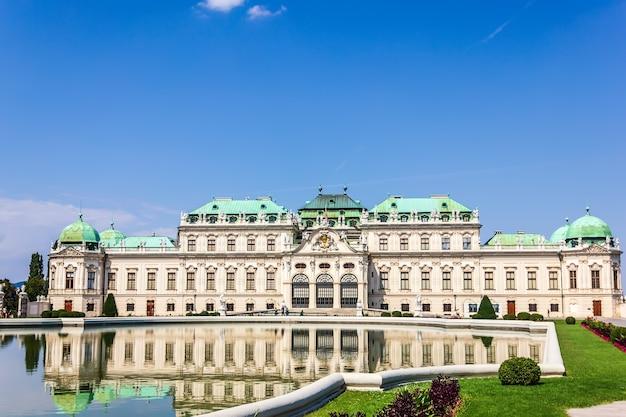 Belvedere palace volledig zicht, wenen zonder mensen.
