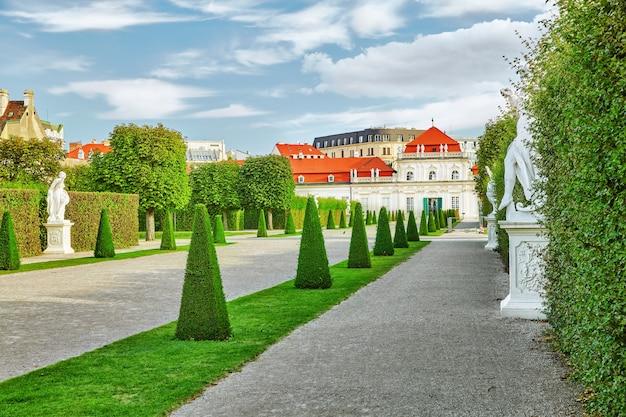 Beneden belvedere. belangrijkste paleiscomplex belvedere.vienna.austria.