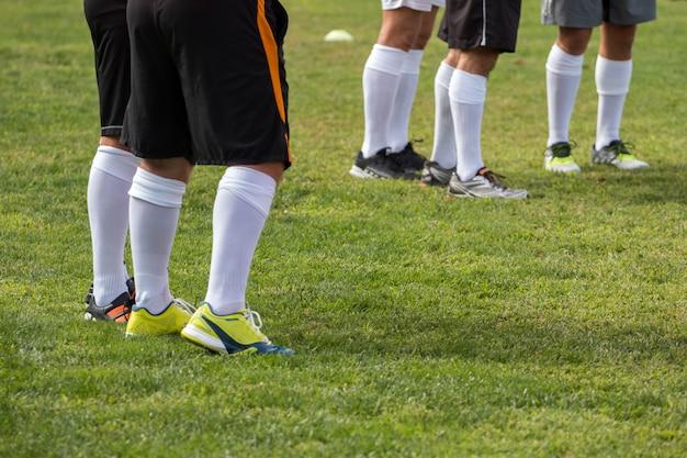 Benen van voetballers