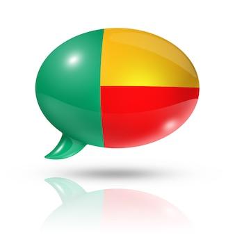 Beninese vlag tekstballon