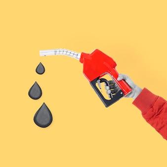 Benzinepomp hand biodiesel duurzame omgeving