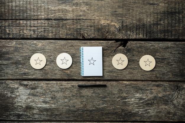 Beoordeling van vijf sterren