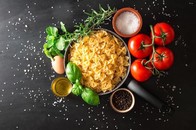 Bereiding van een italiaanse pastagerecht