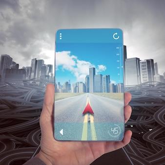 Bereik een juiste bestemming met gps navigator
