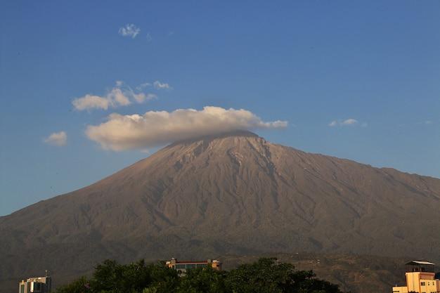 Berg in arusha-stad, tanzania