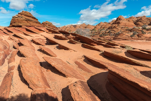 Berg rond the wave, age of jurassic op de aarde, arizona
