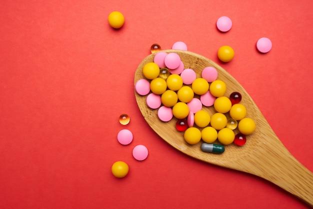 Berg van pillen farmacologie geneeskunde behandeling gezondheidszorg