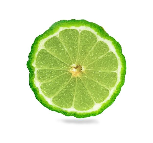 Bergamotfruit, bergamot op witte achtergrond wordt geïsoleerd die.