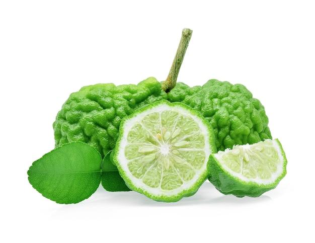 Bergamotfruit op witte achtergrond