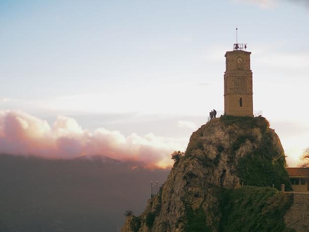 Bergdorp arachova, griekenland.