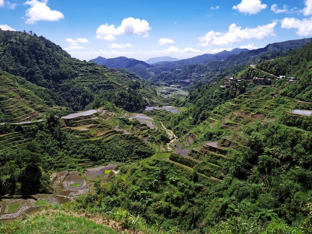 Bergen en valleien in banaue, filipijnen