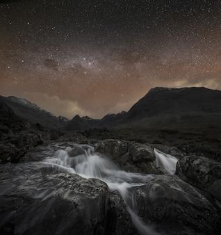Bergen en waterval