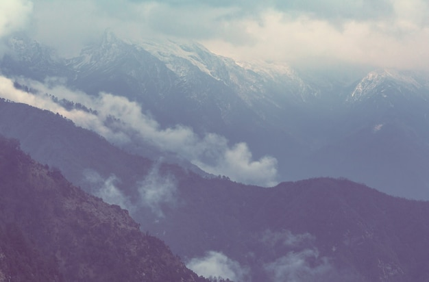 Bergen in de regio sagarmatha, himalaya