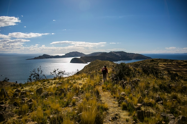 Bergenlandschappen van cordillera real, andes, bolivia