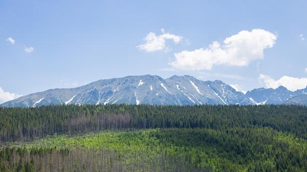 Bergketen met zichtbare silhouetten
